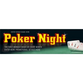 Poker Night Banner (XL10')