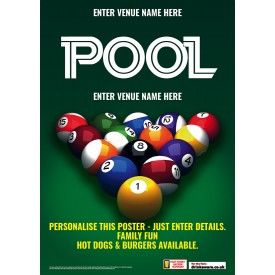 Pool Available Here Poster (A4)