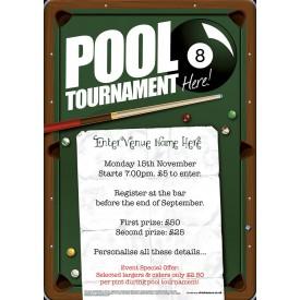 Pool Tournament Flyer (A5)