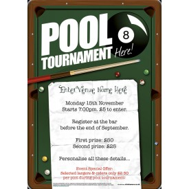 Pool Tournament Poster (A1)