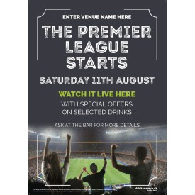 The Premier League Starts Poster (photo) (A4)