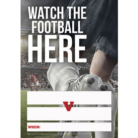 Watch the Football here Empty Belly Poster