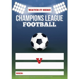 Champions League Football Empty Belly Poster