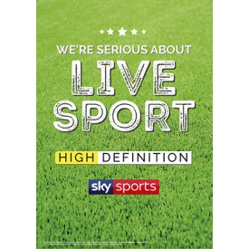 Serious About Live Sport Poster (Sky) v3