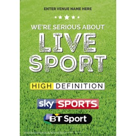Serious About Live Sport Poster (Sky & BT) v2
