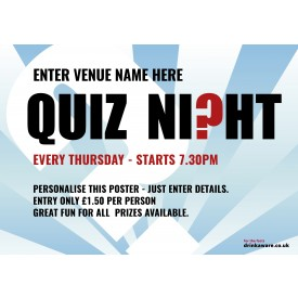 Quiz Night Outdoor Sign A0L