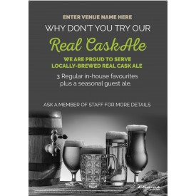 Real Cask Ale Poster (photo v1) (A3)