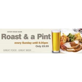 Roast & a Pint Banner (Lrg)