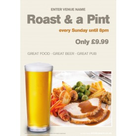 Roast dinner + Drink Correx Sign (A0)