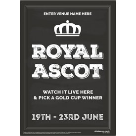 Royal Ascot Racing (chalkboard) Poster (A3)