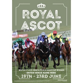 Royal Ascot Racing (photo) Poster (A4)