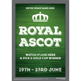 Royal Ascot Racing (green) Poster (A4)