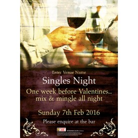 Singles Night Poster (A3)