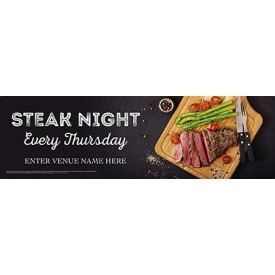 Steak Night Banner (Photo) (Lrg)