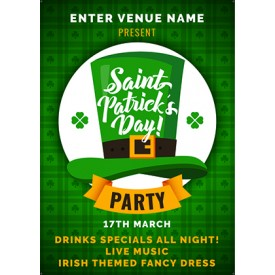St.Patrick's Day Party Poster (A3)