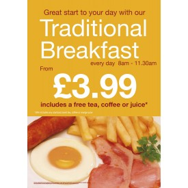 Traditional Breakfast Poster (A3)