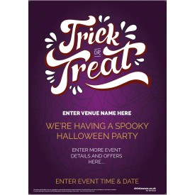 Halloween Party Poster (Trick or TREAT WEB) (A4)