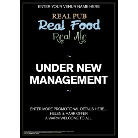Under New Management Poster (A2)