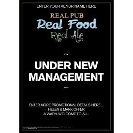 Under New Management Poster (A4)