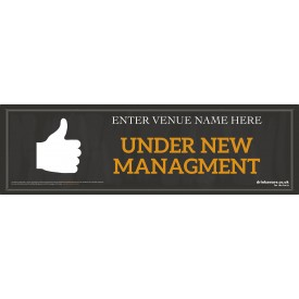 Under New Management Banner (Chalk) (Lrg)