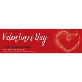 Valentines Day Banner red (Lrg)