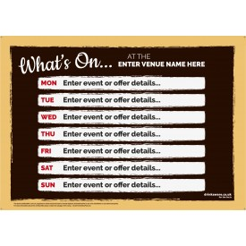 What's On Event Poster (7 days) Outdoor Sign (A0L)