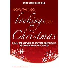 Christmas Bookings Poster (A1)