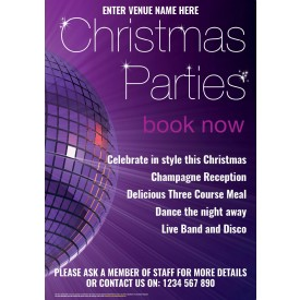 Christmas Parties Poster (A2)