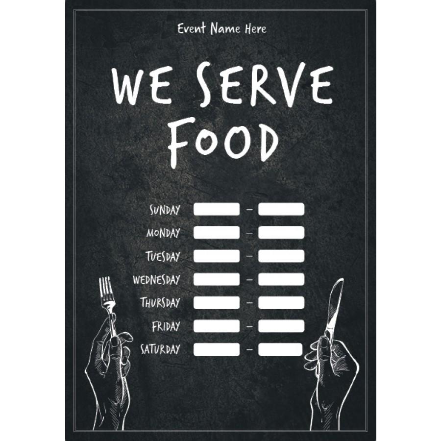 We Serve Food (times) Poster 3