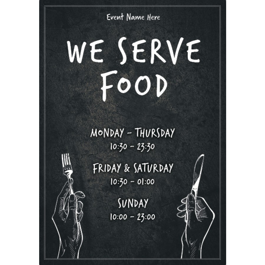We Serve Food (times) Poster 4