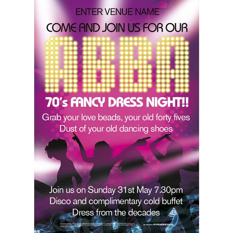 ABBA NIGHT POSTER (A2)