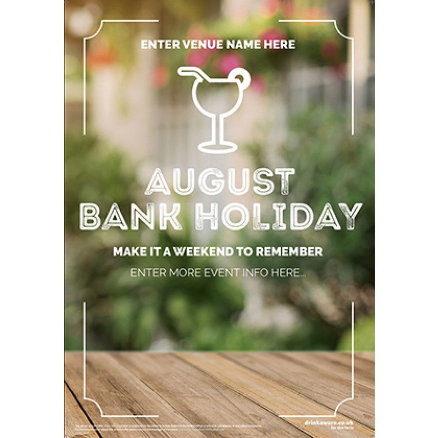 August Bank Holiday Poster v2 (Photo) (A2)
