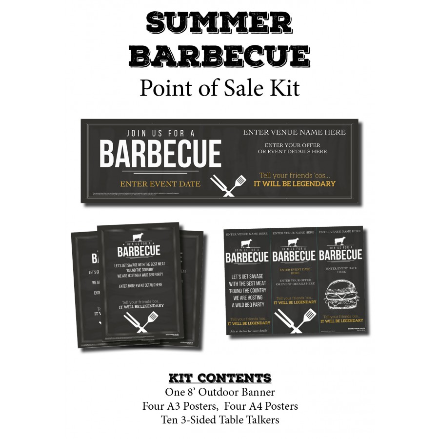 BBQ Point Of Sale KIT (chalk)