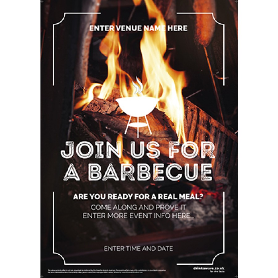 Join Us for a BBQ Poster (photo) (A4)