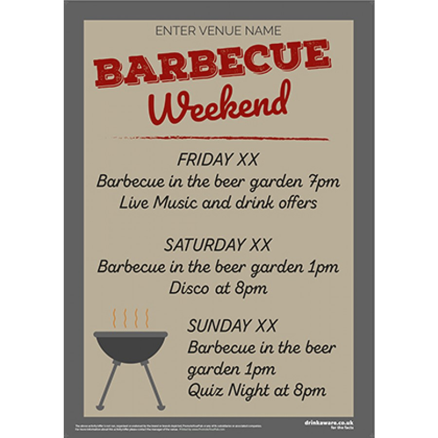 BBQ Weekend Poster (A2)