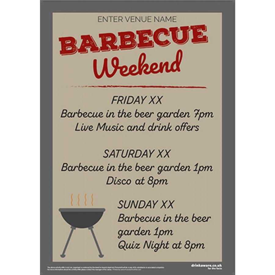 BBQ Weekend Poster (A4)