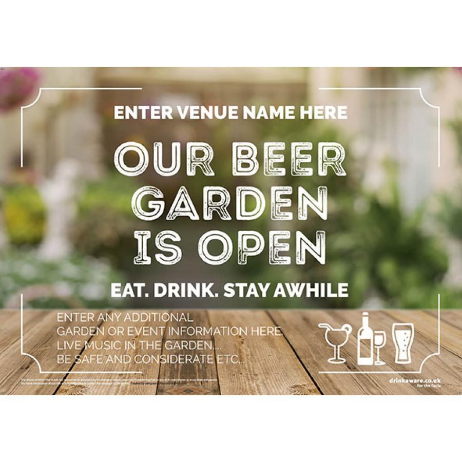 Beer Garden style 4 (landscape) Poster