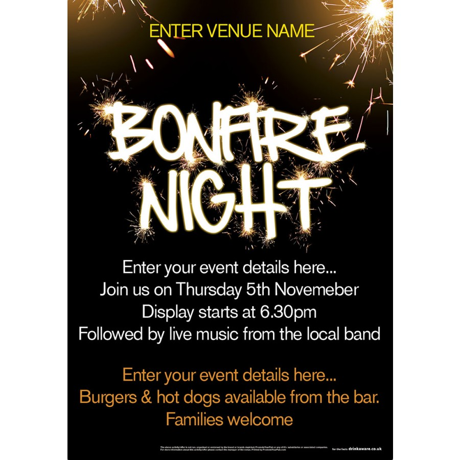 Bonfire Night Poster (A3)