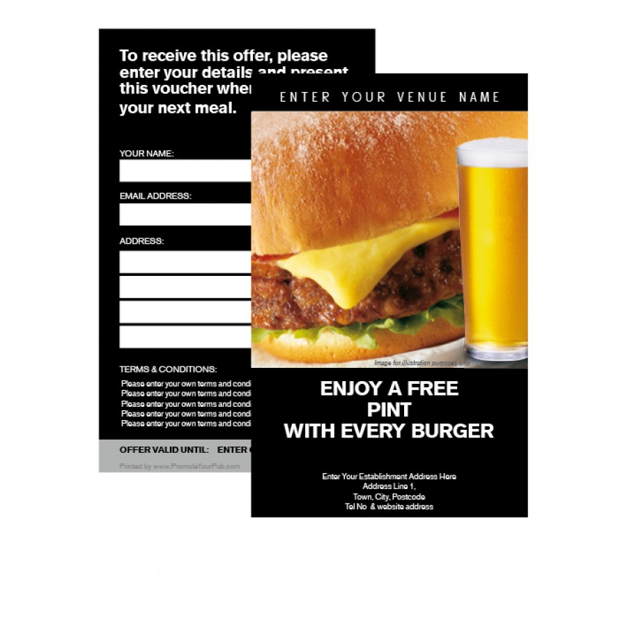 Burger & Pint Voucher