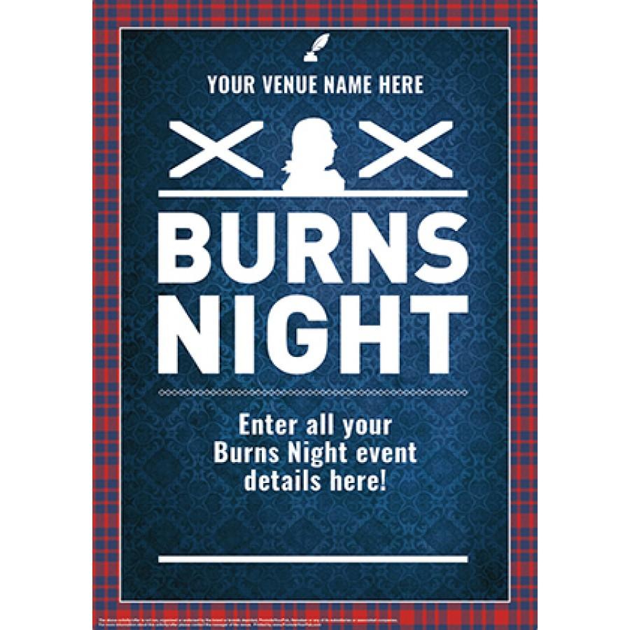 Burns Night 'Tartan Border' Poster (A4)