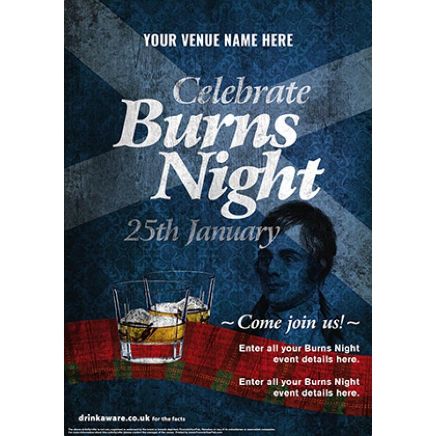 Burns Night 'Whisky Ribbon' Poster (A2)