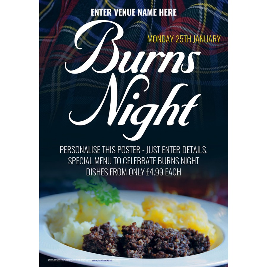 Burns Night Poster (A3)