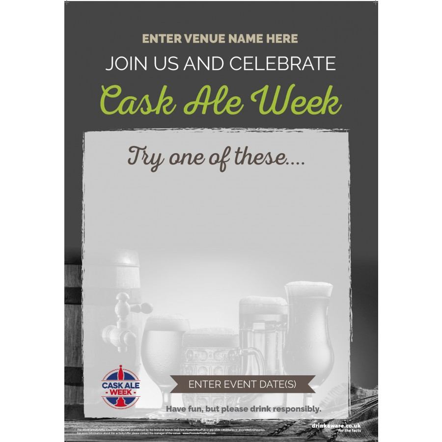 Cask Ale Week 'Empty Belly' Poster (photo) (A2)