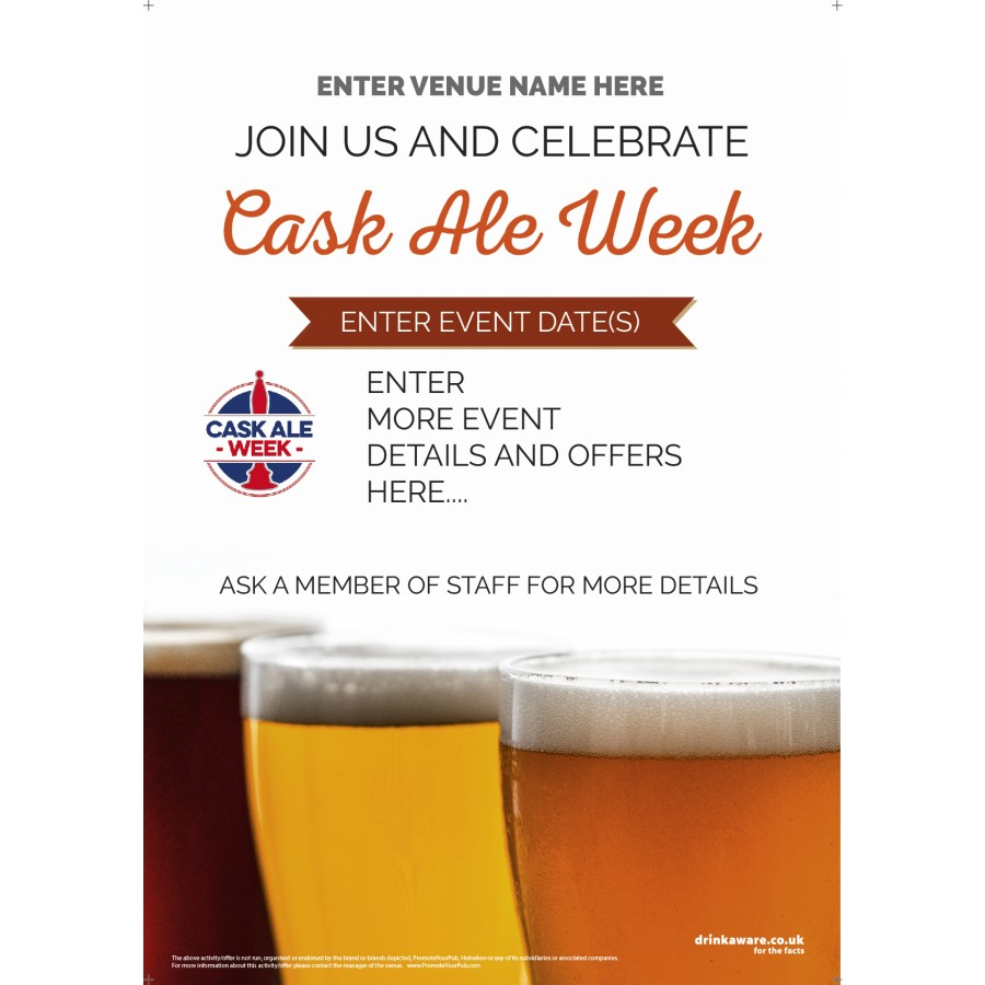 Cask Ale Week Poster (photo v2) (A3)