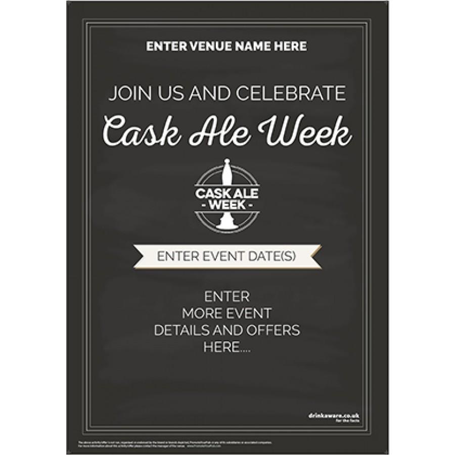 Cask Ale Week Poster (chalk) (A2)