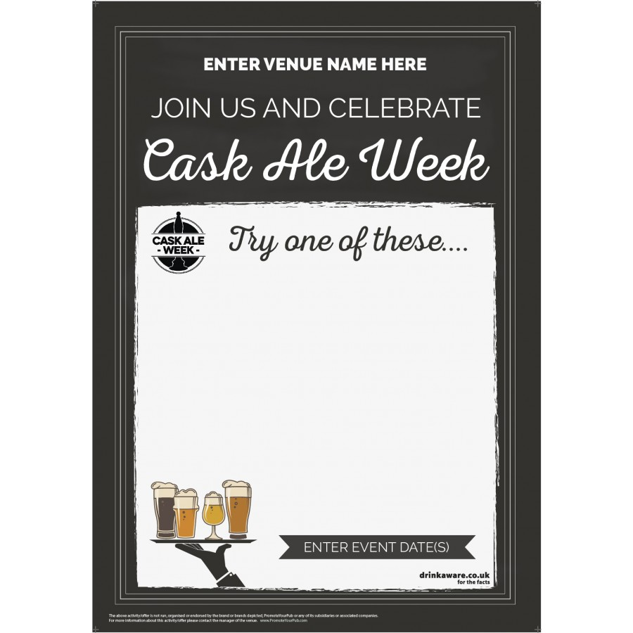 Cask Ale Week 'Empty Belly' Poster (chalk) (A2)