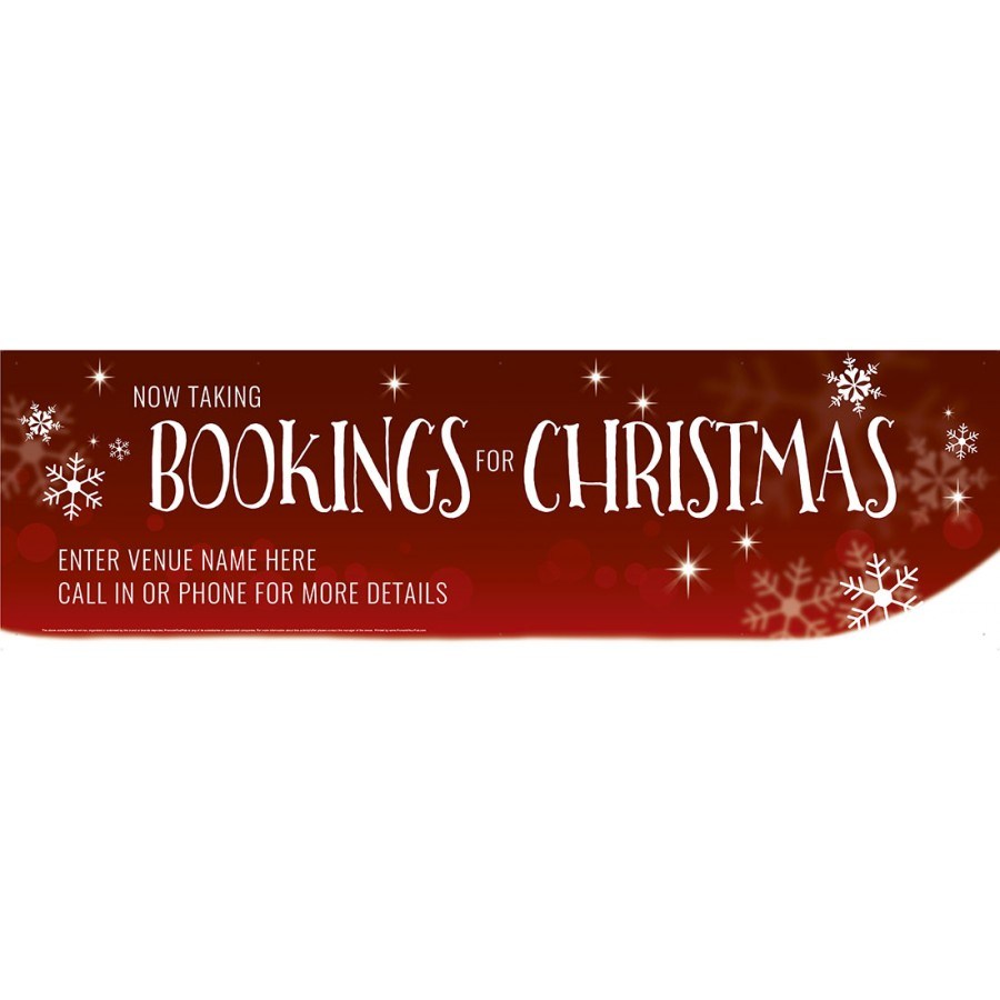 Bookings for Christmas Banner (Lrg)