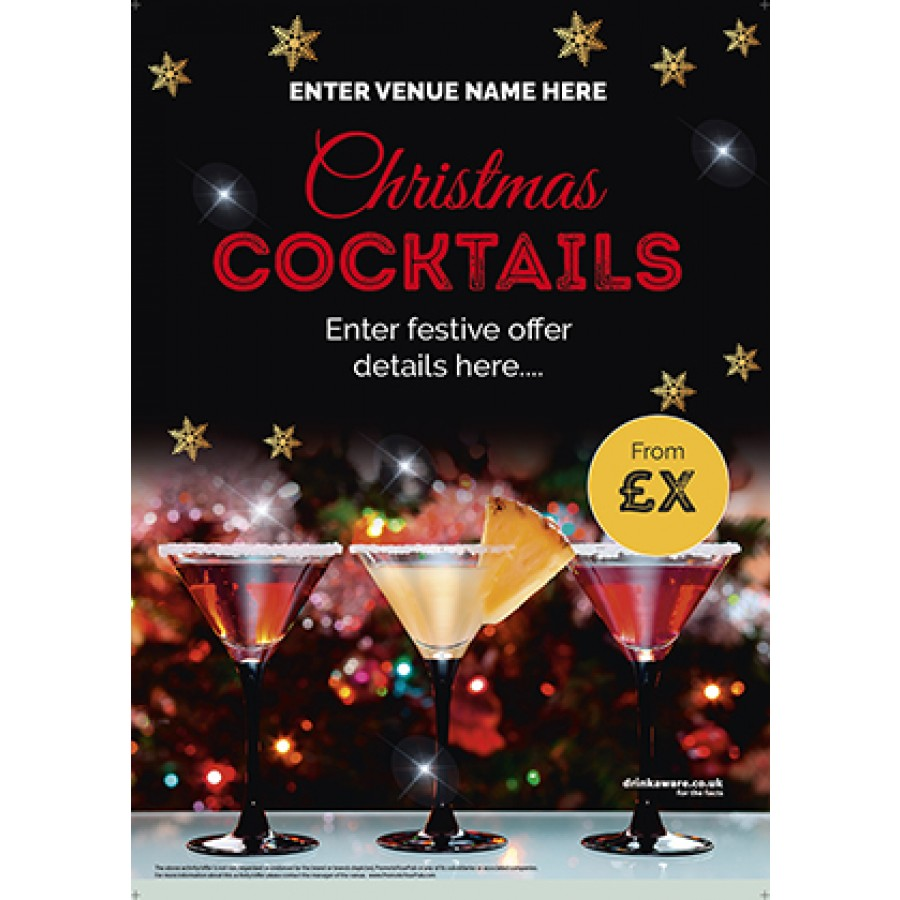 Christmas Cocktails Poster (A2)