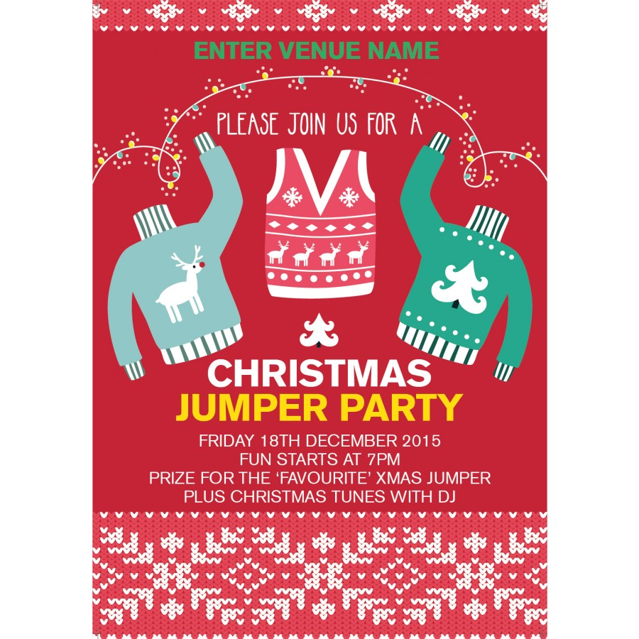Christmas Jumper Party Poster (A4)