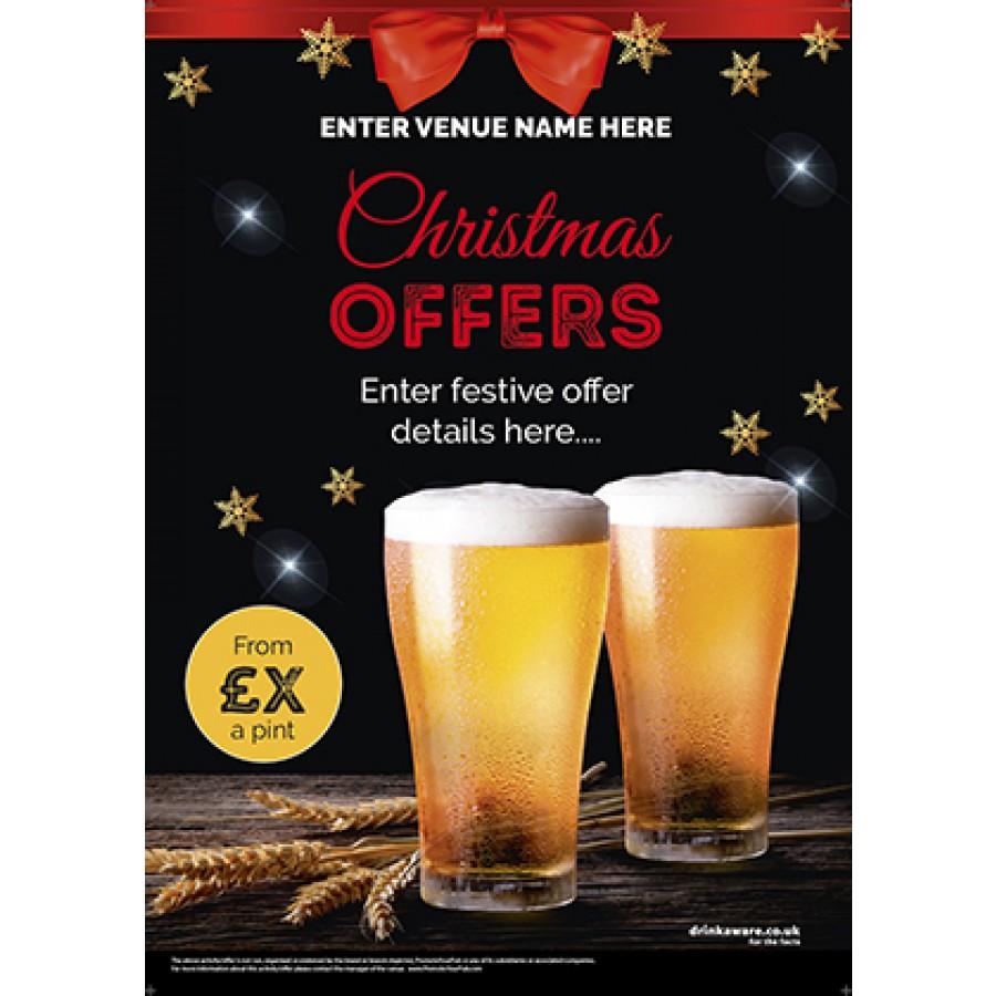 Christmas Pints Poster (A3)